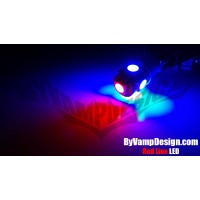 194 (T10) LED- Redline LED (4xBlue 1xRed 5050smd)